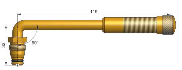 EM Metallventil Messing TRJ 651 gebogen