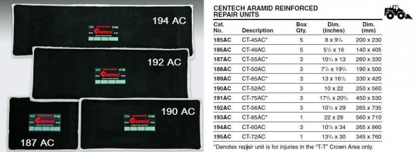 Radial Reparaturpflaster TECH 189 CT-65AC