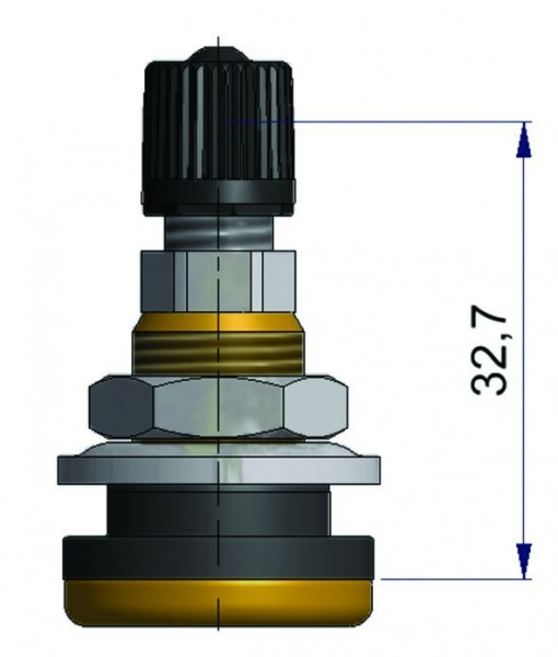 AS Luft/Wasser-Ventil mit Metallfuss kurz