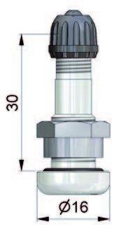 Ventil Leichtmetall gerade 9,7 mm, 30 mm lang