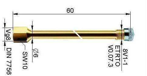 LKW Ventilverlängerung Metall ALL54-MS-SW10-R