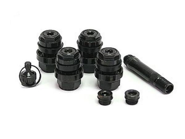 Versteckte Metallventile 11,5 mm (4 St.) schwarz