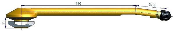 LKW Metallventil 2-fach geb. 116/31,5/11 x 20,5 mm