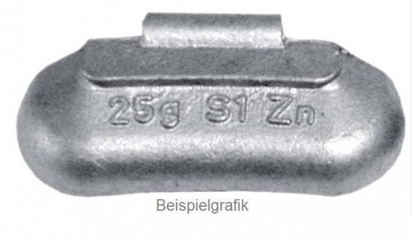 Schlaggewicht 55 g Stahlfelge ZINTEC