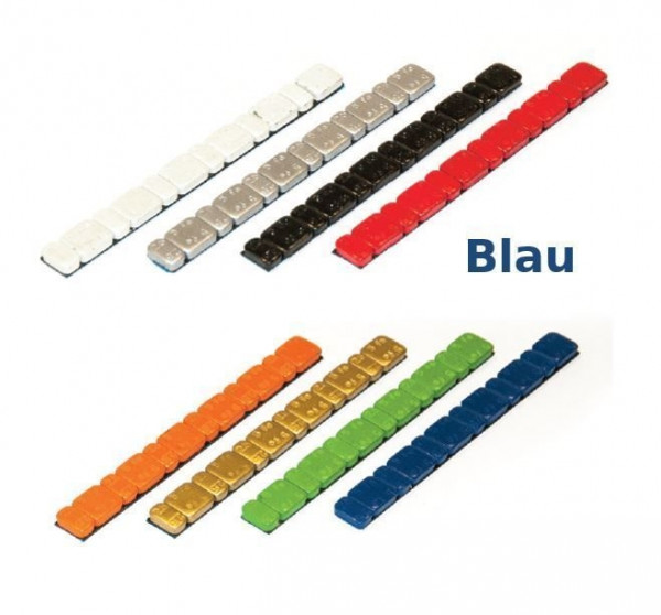 Klebegewicht Stahl 45 g farbig V3030 Blau