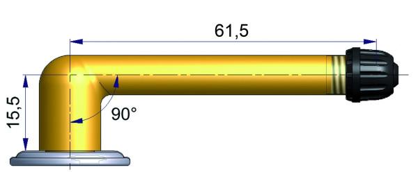 LKW Schlauchventil geb. 15,5/61,5 mm 90° niedrig