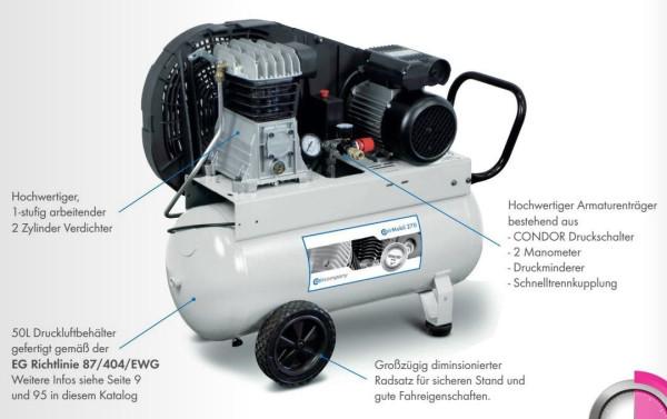 Kolbenkompressor CairMobil 400 230 V