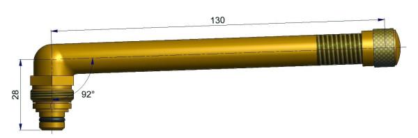 EM Universalventil ohne Fuß gebogen 28/130 mm 92°
