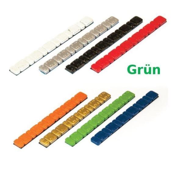 Klebegewicht Stahl 45 g farbig V3030 Grün