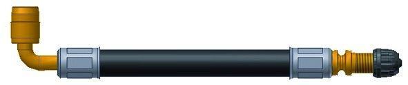 LKW Ventilverlängerung ARAMID 140 mm gebogen