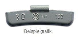 Schlaggewicht 15 g Stahlfelge besch. HSG TYP 133