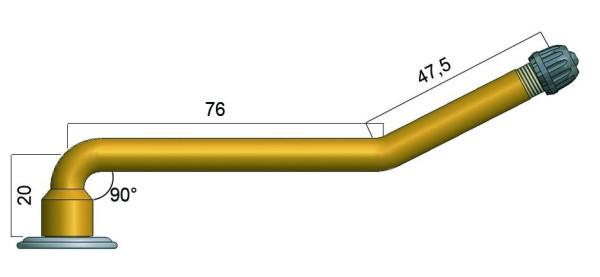 EM Schlauchventilfuß 80 mm Heissvulkanisation