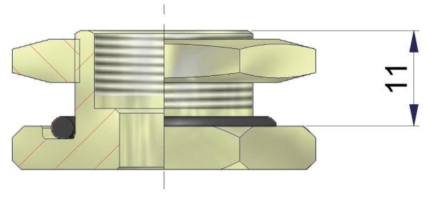 EM Metallfuß für Universalventile 11,0 x 20,5 mm
