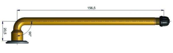 LKW Schlauchventil gebogen 20,5/156,5 mm 90°