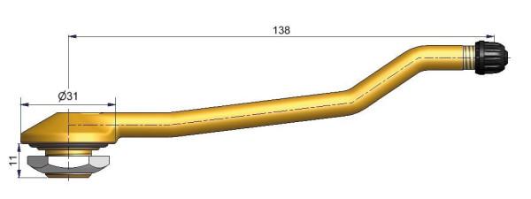 LKW Metallventil 3-fach gebogen 138/11 x 20,5 mm