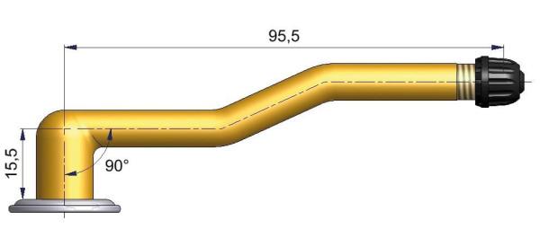 LKW Schlauchventil 3-fach gebogen niedrig