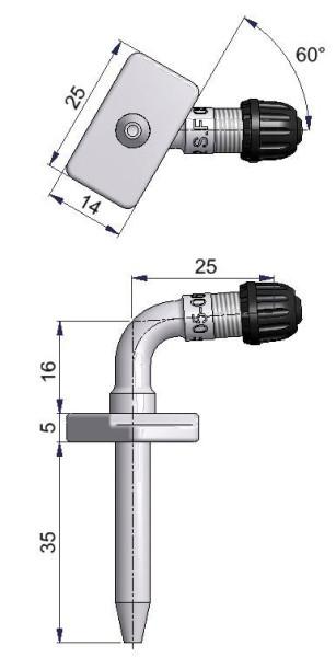 LKW Nadelventil 35/16/25 mm 86°