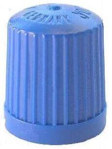 Ventilkappe Kunststoff blau mit Dichtung