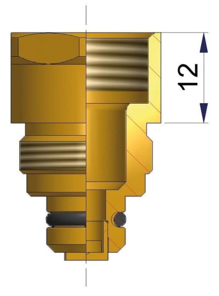 Verlängerung für EM Metallfuß 12 mm
