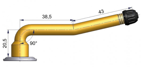 LKW Schlauchventil 2-fach gebogen