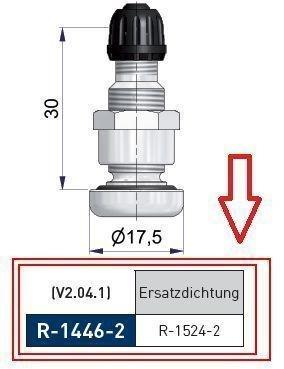 Ventil - Dichtungsring 1524, 11 x 2 mm