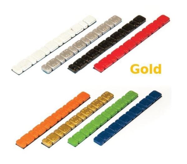 Klebegewicht Stahl 45 g farbig V3030 Gold