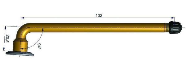 LKW Schlauchventil gebogen 20,5/132,0 mm 94°