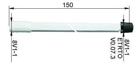 LKW Ventilverlängerung starr aus Kunststoff 150 mm