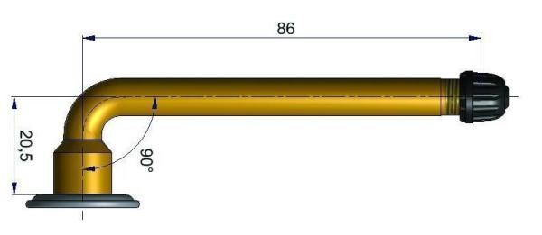 LKW Schlauchventil gebogen 20,5/86,0 mm 90°
