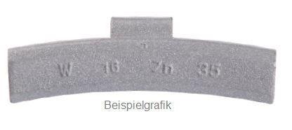 Schlaggewicht 25 g Leichtmetallfelge PVC ECO