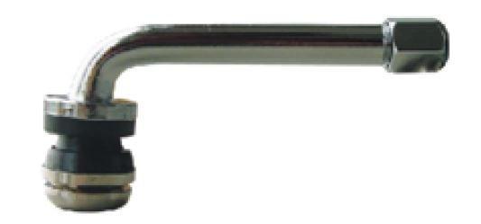 Metallventil 90° gebogen, Ventilloch 11,5 mm