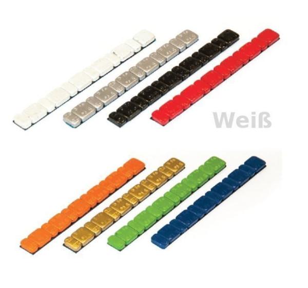 Klebegewicht Stahl 45 g farbig V3030 Weis