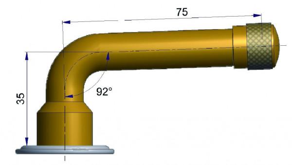 EM Schlauchventil TRJ 1076 E gebogen 35/50 mm 92°
