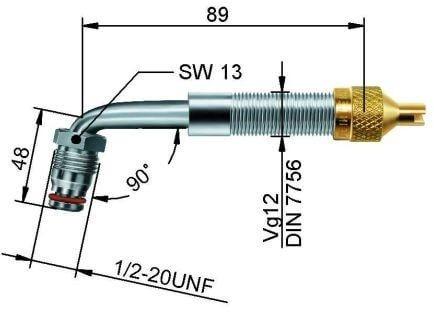 EM Metallventil Messing TRJ 659 gebogen