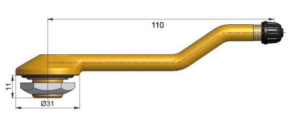 LKW Metallventil 3-fach gebogen 110/11 x 20,5 mm