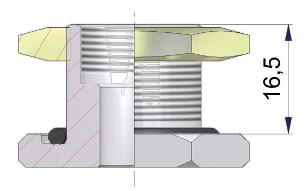 EM Metallfuß für Universalventile 16,5 x 20,5 mm