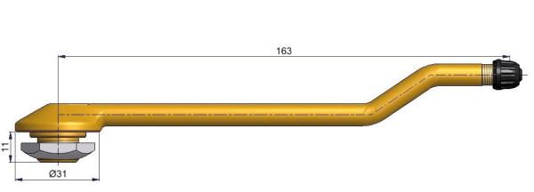 LKW Metallventil 3-fach gebogen 163/11 x 20,5 mm