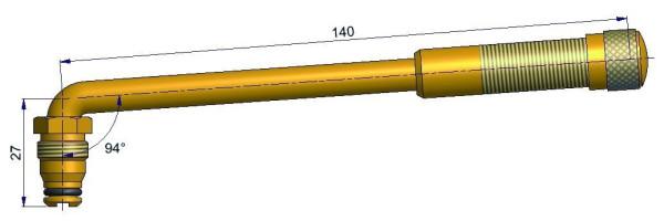 EM Metallventil Messing TRJ 652 gebogen