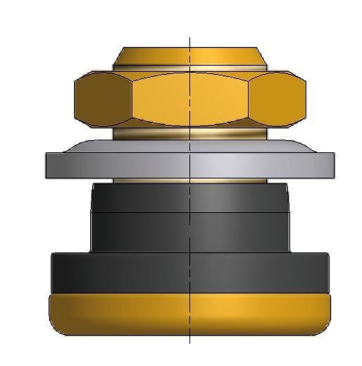 AS Luft/Wasser Verschlussventil mit Metallfuss