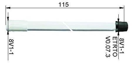 LKW Ventilverlängerung starr aus Kunststoff 115 mm