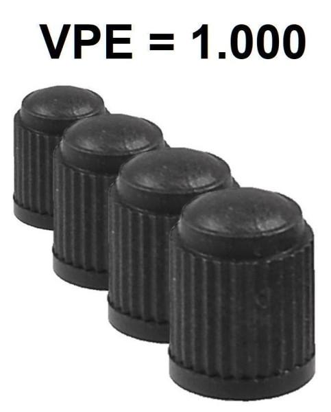 Ventilkappe Kunststoff Standard schwarz (VPE=1000)