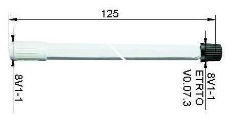 LKW Ventilverlängerung starr aus Kunststoff 125 mm