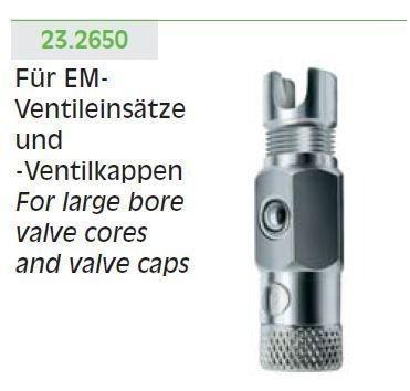 Einsatz EM f.Ventilschrauber mit 2 auswech. Eins.