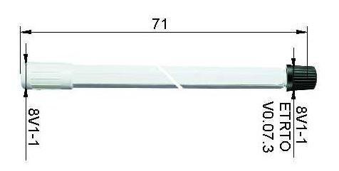LKW Ventilverlängerung starr aus Kunststoff 71 mm