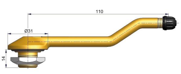 LKW Metallventil 3-fach gebogen 110/14 x 20,5 mm