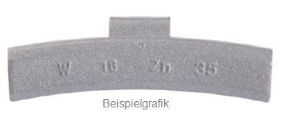 Schlaggewicht 15 g Leichtmetallfelge PVC ECO