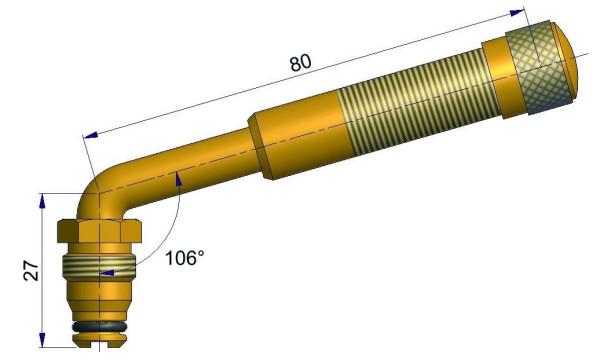 EM Metallventil Messing TRJ 655 gebogen