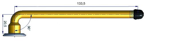 LKW Schlauchventil gebogen 20,5/133,5 mm 90°